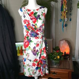 American Living floral pleated accent dress